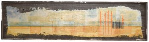 Gold Harvest Bar Code mixed media 18 x 65 inches July 2014